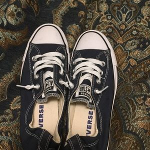Converse low top navy size 7 women's